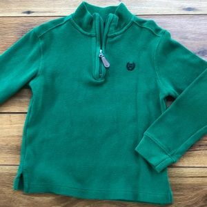 Chaps Mid-Zip Pull Over Sweater Size 6